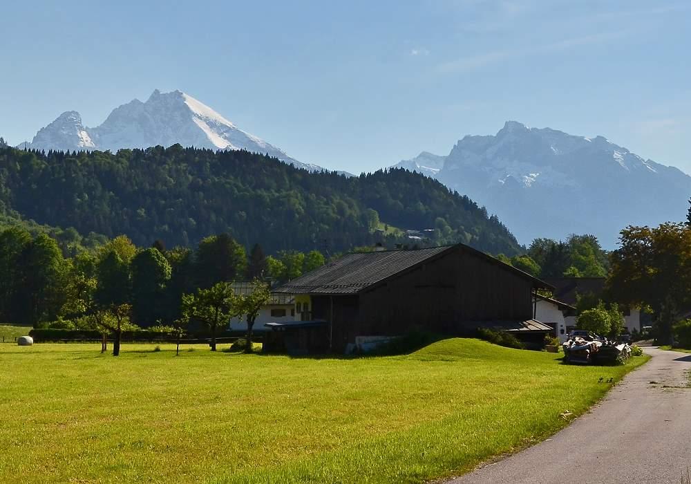 Ausblick vom Gästehaus Woferllehen - Urlaub auf dem Bauernhof in Oberau bei Berchtesgaden